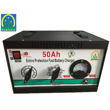 Deep cycle battery charger 12v/24v , 50ah